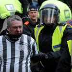 Newcastle Fan Punches Police Horse During Post-Derby Skirmish, Possible Homage To Blazing Saddles (Video)