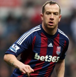Football GIF: Charlie Adam Goes Up And Over The Advertising Hoardings