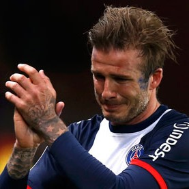 David Beckham Bursts Into Tears After Being Substituted For The Final Time (Video & Photos)