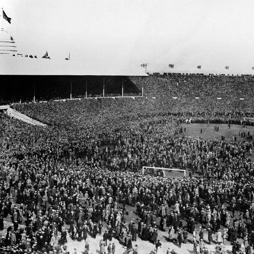 The Black-And-White Years: The Chaos, Crowds And Confusion Of The 1923 'White Horse' FA Cup Final At Wembley (Photos)