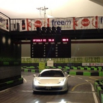 Mario Balotelli Takes Brand New 200k Ferrari For Whirl Round Itty Bitty Go-Kart Track (Photo)