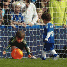 Football GIF: More Chelsea Sprogs Being Adorable – Petr Cech's Wee Nipper Shuts Down L'il Leo Torres