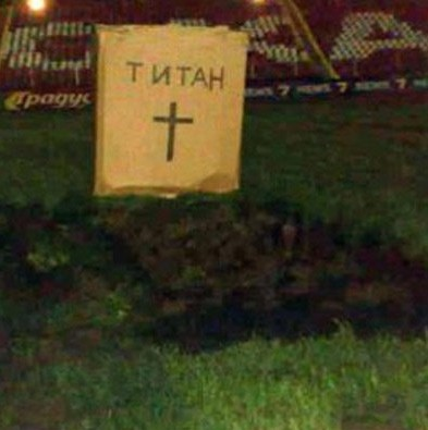 Irate CSKA Sofia Ultras Dig Grave For Club Owners In Middle Of Their Pitch