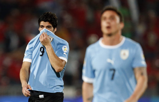 Chile Uruguay WCup Soccer