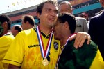 Romario and Branca share a teary-eyed moment after winning the '94 World Cup in Pasadena
