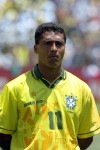 Romario maintains a focused glare before Brazil's first game of the USA '94 World Cup against Russia