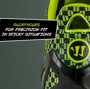 New Warrior Football Boots Feature 'Gloryholes' For Use In 'Sticky Situations'