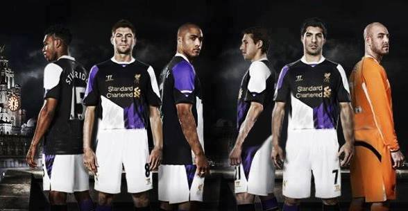 purchase cheap 2ece7 7b8f3 Liverpool's New Purple 2013/14 Third Kit Is Just As Gruesome ...