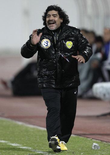 Mideast Emirates Soccer Maradona