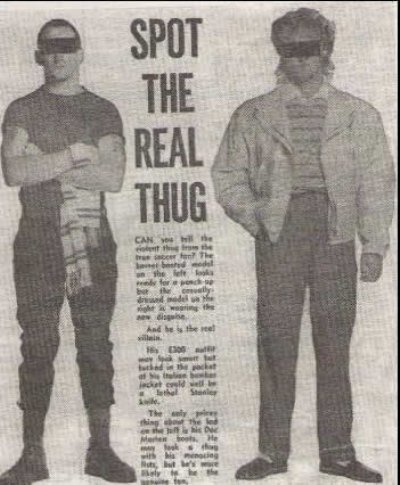 1980s football hooligan