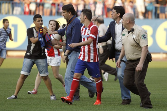 Spain Soccer Atletico de Madrid Villa