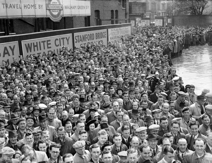 Crowds at Chelsea