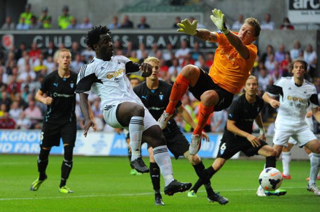 Soccer - UEFA Europa League - Third Qualifying Round - First Leg - Swansea v Malmo - Liberty Stadium