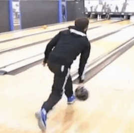 Football GIF: Juan Mata Is The World's Worst Ten-Pin Bowler
