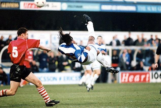 Trevor Sinclair, Footballer scores with a scissor-kick for QPR v Barnsley 3:1.