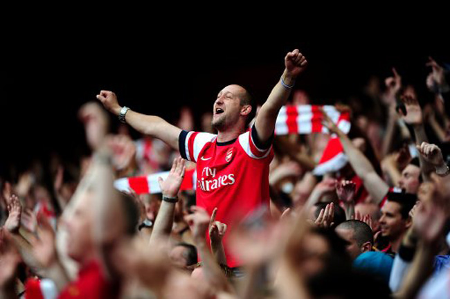 Image result for arsenal fans emirates