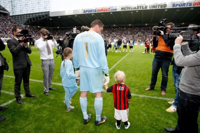 Soccer - Steve Harper Testimonial - Newcastle United v AC Milan - St James' Park