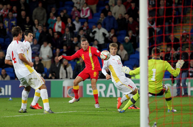 Soccer - FIFA World Cup Qualifying - Group A - Wales v FYR Macedonia - Cardiff City Stadium