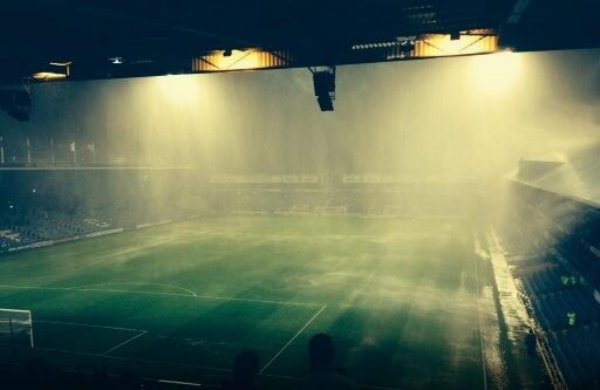 Portsmouth Wycombe Abandoned Due To Torrential Rain And Lightning