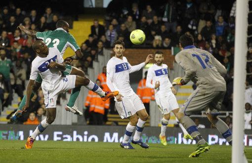 Britain Soccer Italy Nigeria