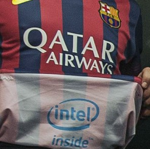 Intel Agree £15m Sponsorship Deal To Slap Their Logo On The INSIDE Of Barcelona's Shirt