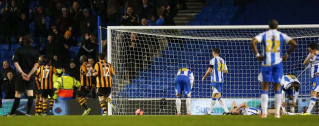 Soccer - FA Cup - Fifth Round - Brighton & Hove Albion v Hull City - AMEX Stadium