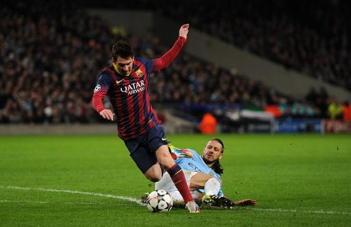 Soccer - UEFA Champions League - Round of 16 - Manchester City v Barcelona - Etihad Stadium