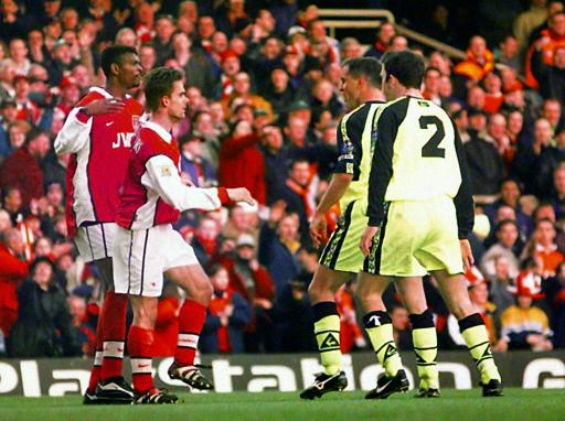Arsenal v Shef Wed/Overmars