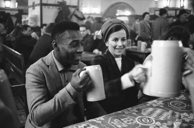 Pele with Wife Rosemarie dos Reis Cholbi Beerhouse