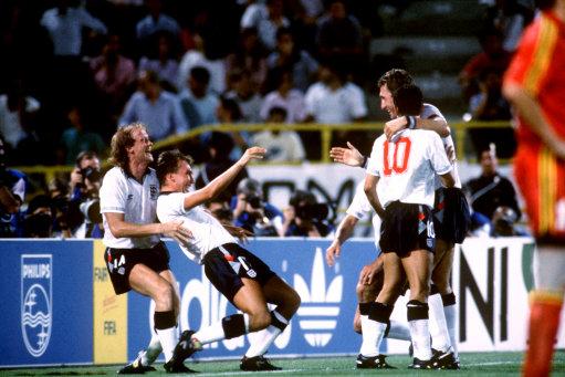 Soccer - FIFA World Cup Italia 90 - Second Round - England v Belgium - Stadio Renato Dall'Ara, Bologna