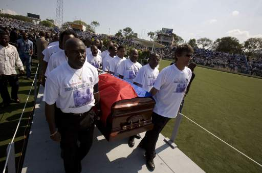 ADDITION Haiti Soccer Legend Funeral
