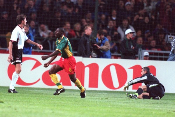 Soccer - World Cup France 98 - Group B - Cameroon v Austria