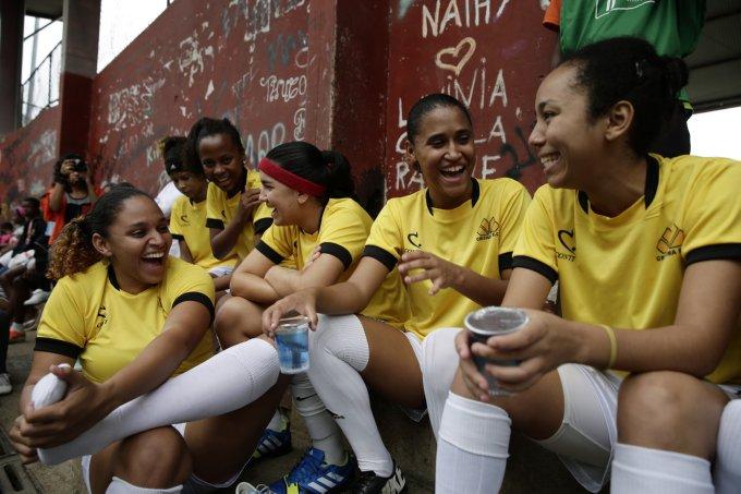 Brazil WCup Soccer Favela