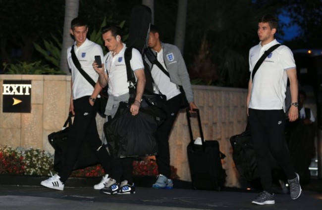 Soccer - World Cup 2014 - Miami Training Camp - England Arrive - Mandarin Oriental Hotel