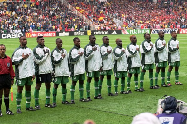 Soccer - World Cup France 98 - Spain v Nigeria