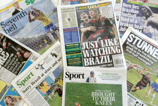 Soccer - Brazil v Germany - Media Reaction