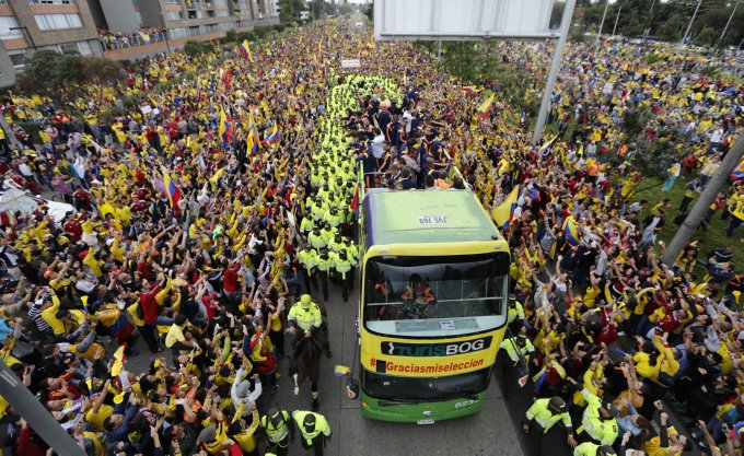 Colombia Brazil WCup Homecoming