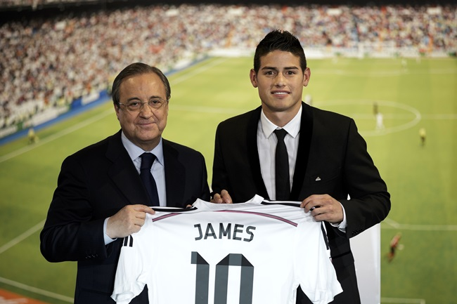 James rodriguez officially unveiled as real madrid s latest