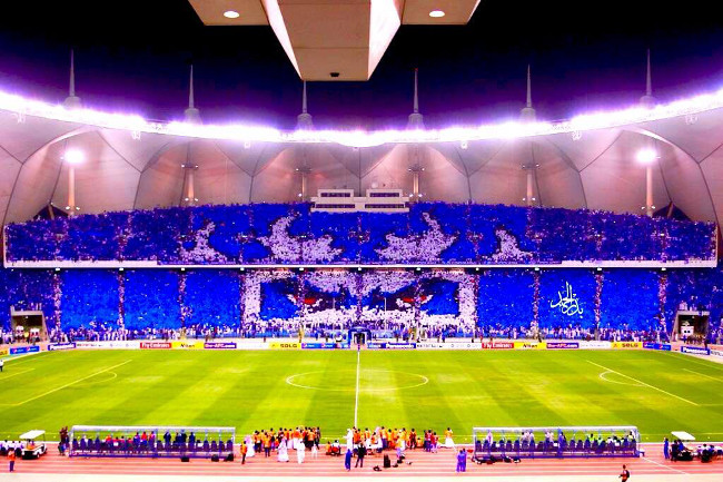 snapshot al hilal fans produce magnificent tifo in asian
