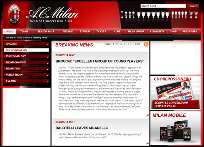 milan-website