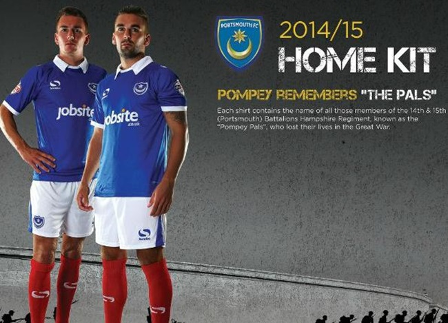 007ef55cb23 Snapshot: Portsmouth Use New 2014/15 Home Shirt To Pay Tribute To ...