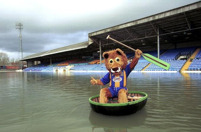 Soccer - Nationwide League Division Three - Floods at Shrewsbury Town