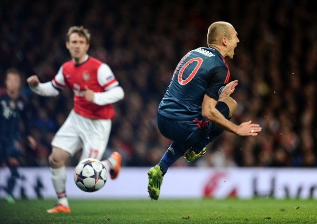 Soccer - UEFA Champions League - Round of 16 - Arsenal v Bayern Munich - Emirates Stadium