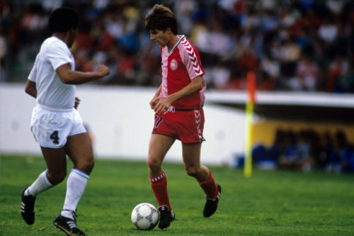 Soccer - World Cup Mexico 86 - Group E - Denmark v Uruguay