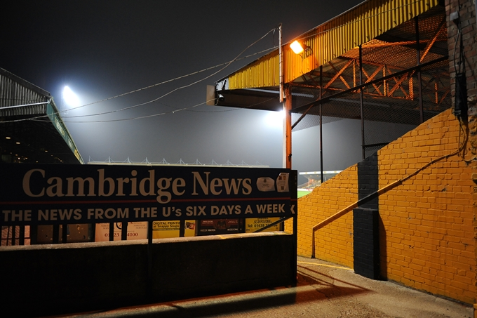 Soccer - FA Cup - First Round - Cambridge United v Wrexham - R Costings Abbey Stadium