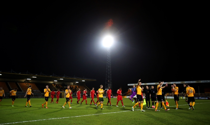 Soccer - FA Cup - First Round - Replay - Cambridge United v Bury - R Costings Abbey Staduim