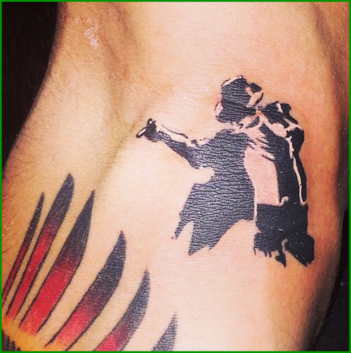 Michael Jackson Silhouette Tattoo images