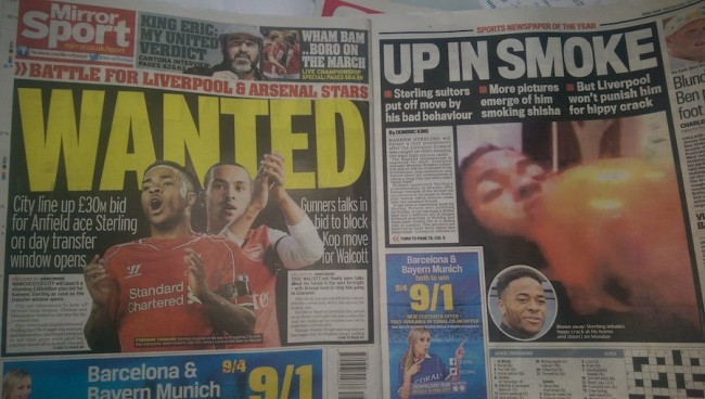 raheem sterling smokes