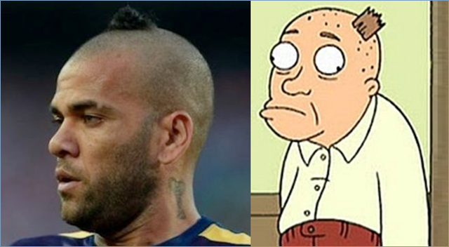 New Dani Alves hairstyle: Buddhist monk hair aka dog poop ... |Dani Alves Haircut