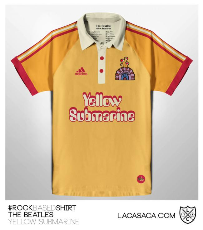 8fcb2929272d Football Art  Brilliant Football Shirt Designs Inspired By Classic Rock  Bands (Photos)